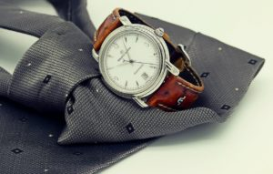 wrist-watch and tie